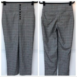 NEW Joie Abony High Rise Plaid Ankle Pants 4